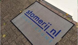 TotaalTextiel - droogloopmatten voor buiten met logo
