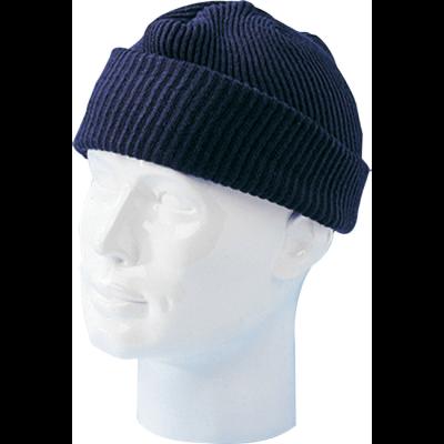 Totaal Textiel - Hoofdbescherming Joppermuts van 100% acryl blauw