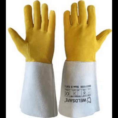 Totaal Textiel - Handbescherming Weldsafe Lashandschoenen Hertenleer TIG